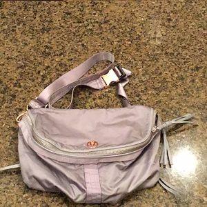 Lululemon Crossbody Bag Purse grey rose gold